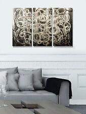 Silver Multi Panel Modern Metal Wall Art Decor - Complex Decision by Jon Allen