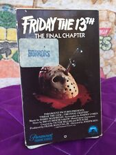 *Betamax FRIDAY THE 13th The Final Chapter - Horror *Rare oop Jason NOT VHS
