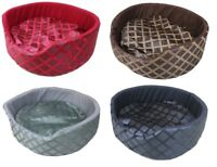 Luxury Cushion Warm Bed Pet Basket Soft Washable Dog Cat Pet Sleeping Basket