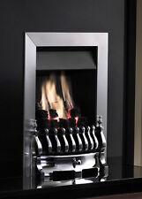 GAS FIRE CHROME INSET  BLENHEIM LIVING FLAME FULL DEPTH MERIDIAN DEEP CLASS 1