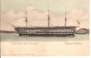 Plymouth Harbour , H.M.Training Ship , Impregnable , Stengel Undivided Back PC