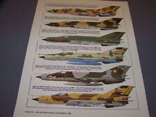 VINTAGE..MIG-21 VARIANTS..COLOR PROFILES/HISTORY...(597G)