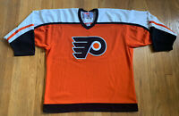 Philadelphia Flyers Vintage CCM Home Hockey Jersey Size L EUC