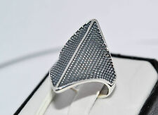 925 STERLING SILVER  SOLID NO STONE HANDMADE  RING SIZE UK-  P