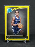 2018-19 Donruss Jaren Jackson Jr. RC, Yellow Flood Rated Rookie, Grizzlies