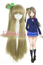 Lovelive Love Live Minami Kotori Long Straight Flaxen Color Cosplay Wig & Bow
