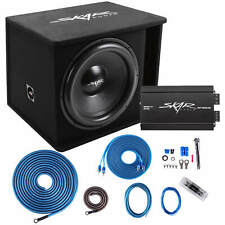 "SKAR AUDIO SINGLE 18"" 1200 WATT COMPLETE SDR SERIES LOADED SUB BOX AND AMPLIFIER"