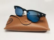 New Ray Ban Jr RJ 9050S 100S/55 Black w/Blue Mirror KIDS Clubmaster 45mm w/Case