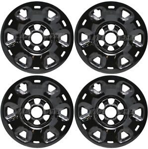 "17"" GLOSS BLACK Wheel Skins / Hubcaps (Set of 4) FOR 2016-2021 Nissan Titan"