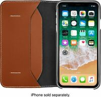NEW Platinum Genuine Leather Folio Case Wallet for Apple iPhone XR, XS MAX Brown