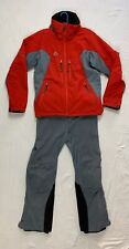 Marmot CMH Heli Ski Two-Piece Suit Red Gray Men's Embroidered Snowmobile Med-Lrg