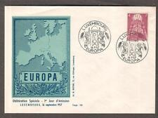 Luxembourg 1957 Europa set of 3 cachet first day covers 2F 3F 4F
