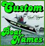 2x CUSTOM BOAT YACHT NAMES 1200mm - Cast Vinyl 12Yr UV DECAL STICKER GRAPHICS