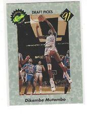 1991 CLASSIC BASKETBALL DRAFT PICKS DIKEMBE MUTOMBO #3 - GEORGETOWN