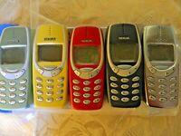 MITICO Telefono Cellulare NOKIA 3310 nuovo ORIGINALE RIGENERATO NOKIA