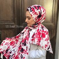 Cotton Hijab, Cotton Scarf, US Polo Scarf, Dotted Syle Hijab