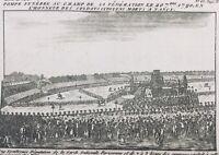 Nancy 1790 Champs de Mars Soldats Citoyens rare Gravure Révolution Française