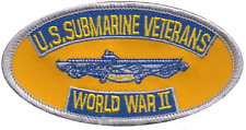 US Submarine Veterans World War II United States Navy USN Embroidered Patch