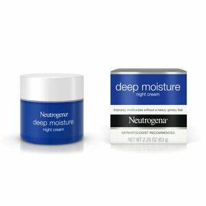 Neutrogena Deep Moisture Night Cream with Glycerin & Shea Butter (2.25 OZ= 63 G)