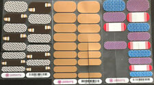Jamberry Nail Wraps Lot Half And Partials, Patriot, Latte Love, Rose Gold