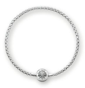 Genuine Thomas Sabo sterling silver 925 Karma charm bracelet 21cm