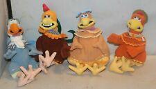 Playmates DreamWorks Chicken Run Plush Complete Lot of 4 Birds Stuffed Animals