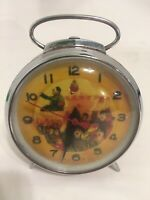 Mao Zedong Chinese Communist Party Red Alarm Clock Waving Arm Vintage WORKS WELL