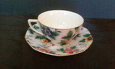 ANTIQUE CROWN DUCAL FLAT CUP AND SAUCER ASCOT PATTERN