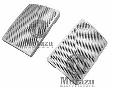 Chrome Speaker Grills Mesh Covers fits Mutazu 6 x 9 Speaker lids for Harley FLH