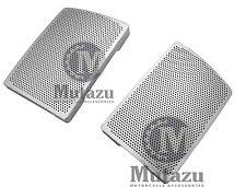 Chrome Speaker Grills Mesh Covers fits Mutazu 6 x 9 Speaker lids for Harley FLH