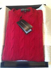 NEW in Box/Tag $ 750. Women's Medium RALPH LAUREN Red Cashmere Sweater