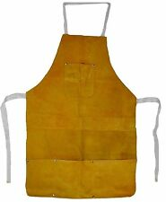 Split Leather Welding Apron 4 Pockets FREE SHIPPING
