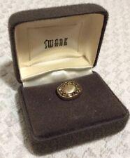 Vintage Swank Multi Color Rhinestones Tie Tack Pin in original box