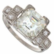 2.00ct Certified Asshur Cut Platinum Antique Engagement Ring