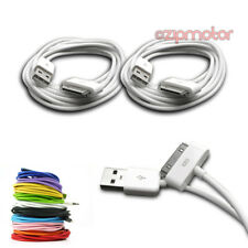 2X 6FT USB 30PIN WHITE CABLE DATA SYNC CHARGER SAMSUNG GALAXY TAB 10.1 GT-P5100