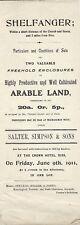 SHELFHANGER: 1911 Arable Land -sale particulars