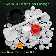 81 Kinds Plastic Gear Set Pulley/Drive Belt/Gear/Rack Transmission Model DIY Kit