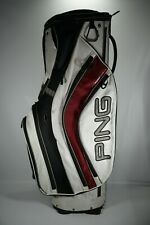 Ping Pioneer Golf Cart Bag / White, Red and Black / With Raincover
