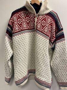 ELLI CAMPAGNOLO Norweger Muster Pullover Gr. XL Herren