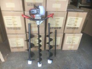 52cc Petrol Earth Auger / Fence Post Hole Borer 3 Bits + Extension
