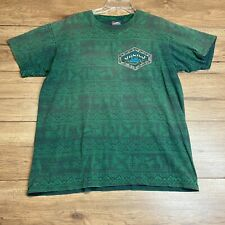 New listing Vintage 90's Gecko Hawaii Abstract Surf Single Stitched AOP USA T-Shirt SIZE L