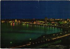 ANGOLA LUANDA THE CAPITAL BY NIGHT  AFRICA PORTUGAL COLONIAL 1969 POSTCARD
