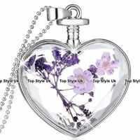 Amethyst & Silver Heart Necklace Christmas Jewellery Mum Gifts For Her Women A1