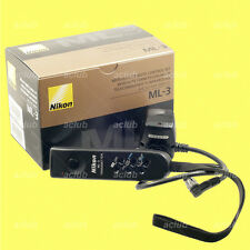 Genuine Nikon ML-3 Remote Control Set D5 D4 D3 D850 D810A D810 D800 D700 D500 F6