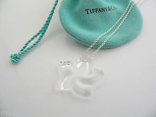 Tiffany & Co Peretti Silver Large Huge Rock Crystal Star Necklace Pendant Charm