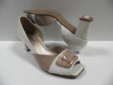 Chaussures GABOR blanc marron FEMME taille 35.5 escarpins ouvert NEUF #663 91