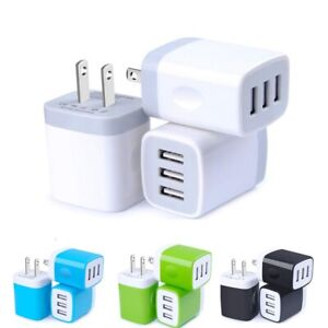 USB Wall Charger 3.1A Dual Port Phone Charging Base Cube Charger For iPhone