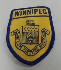 ULTRA RARE Vintage Winnipeg Police Shoulder Patch Canada Manitoba Constable