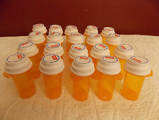 20 Empty RX Pill Prescription Bottles for Crafts/Fishing/Garage SAFETY LIDS