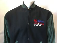 A C Delco Spark Plugs Racing Embroidered Snap Up Long Sleeve Jacket Size Medium